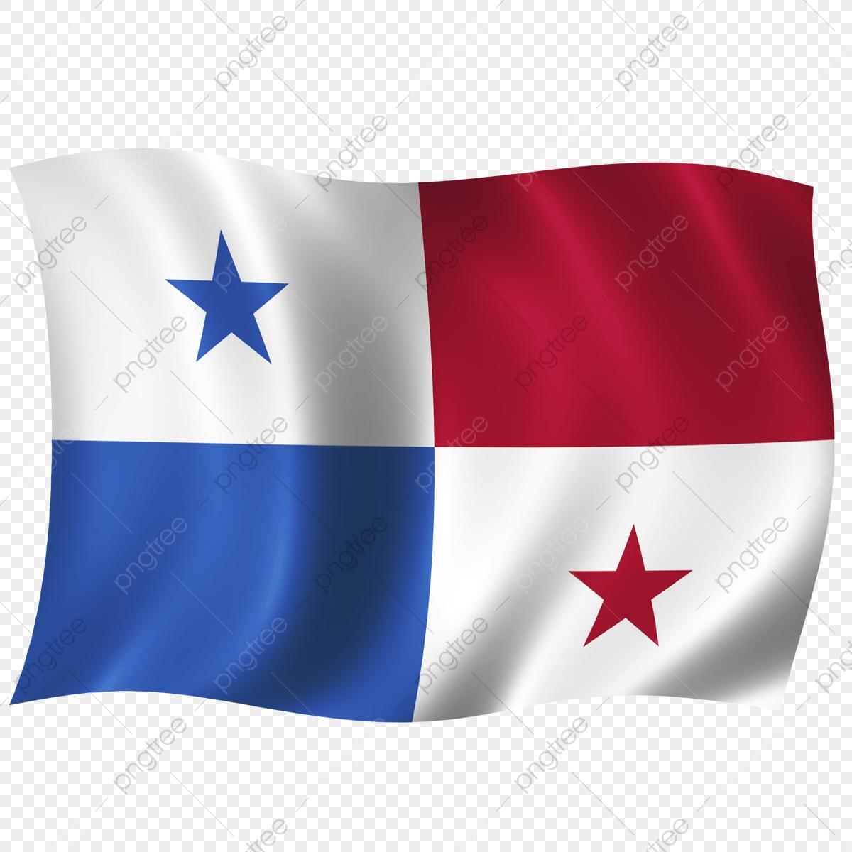 Panama Wave Flag, Waving Flag, Wave Flag, World Cup PNG.