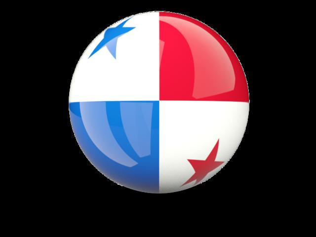 Sphere icon. Illustration of flag of Panama.