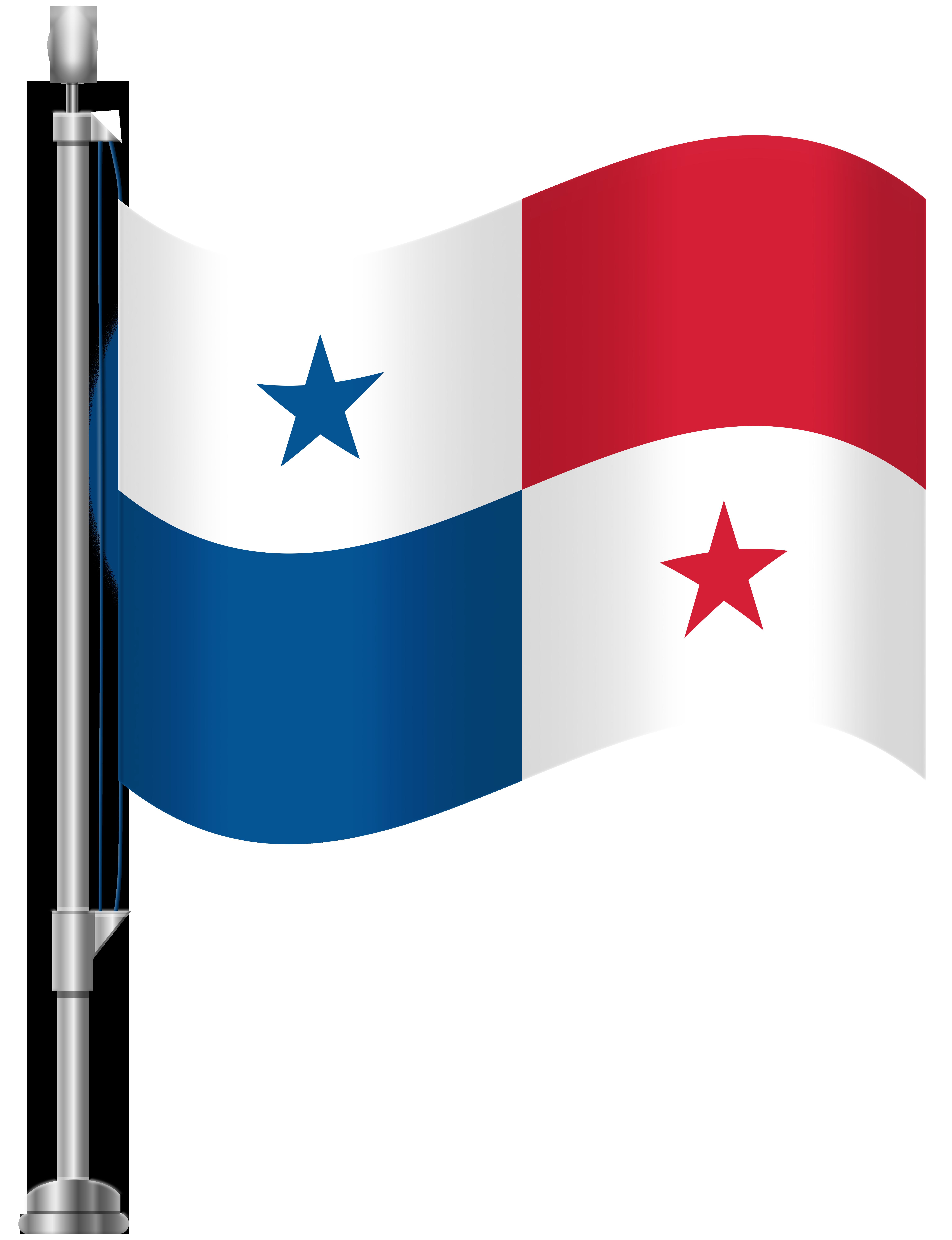 Panama Flag PNG Clip Art.
