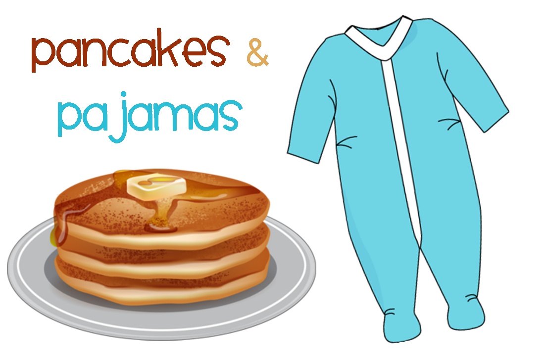 Pancakes And Pajamas Clipart.