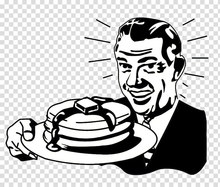 Albany Pancake Breakfast Bistro Black and white, pancakes.