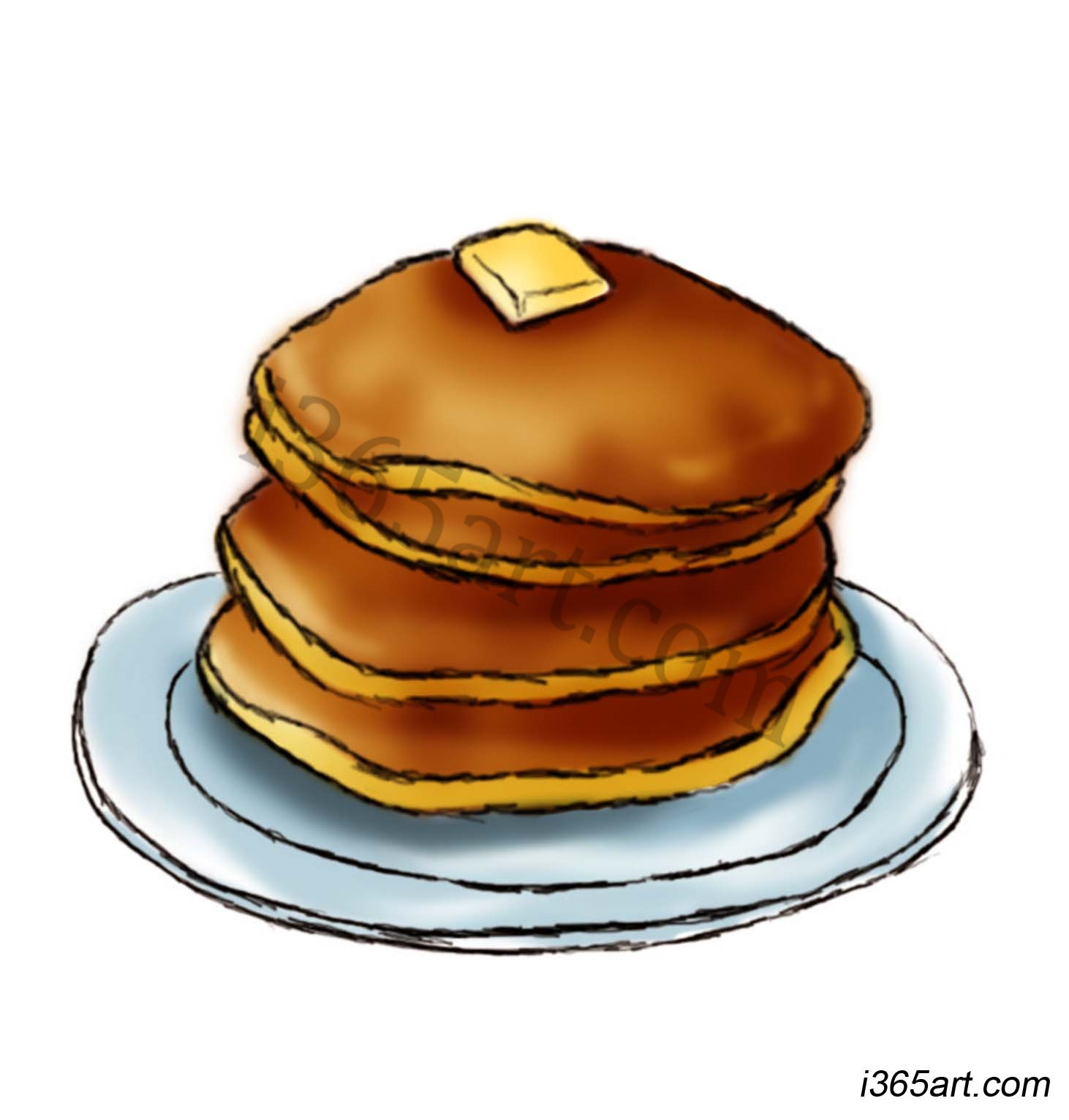 Pancake Feed Clipart.