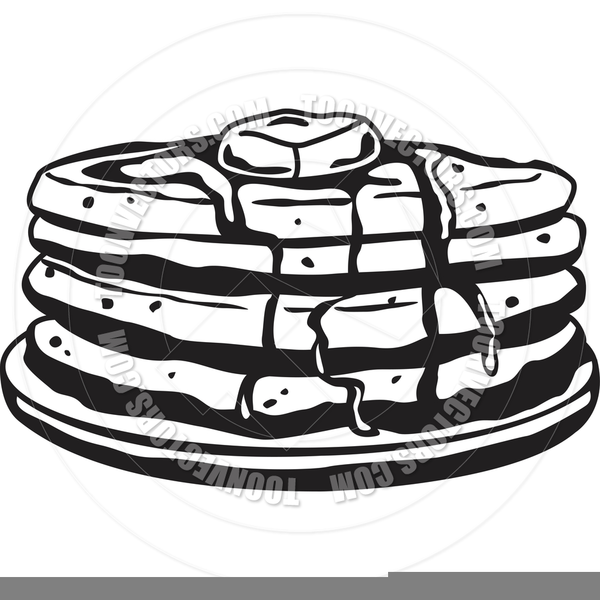 Black And White Pancake Clipart.