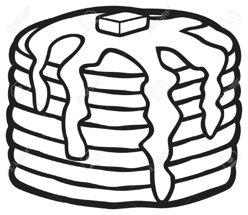 Pancake Clipart Black And White.