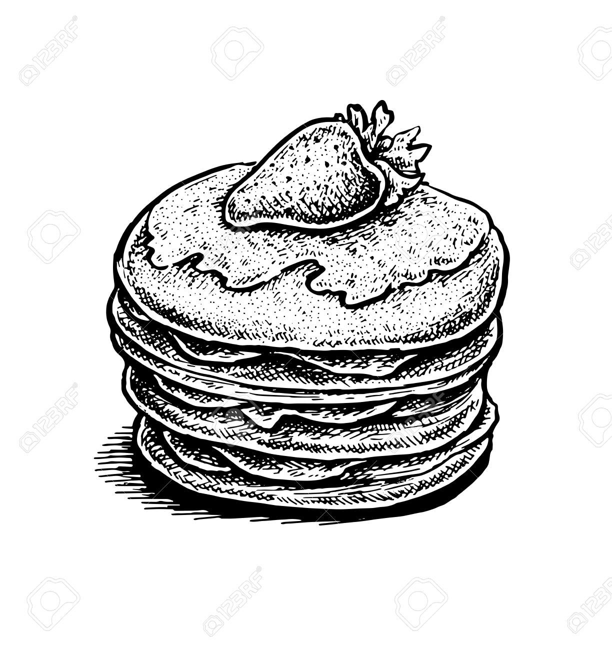 Pancakes Clipart Black And White (77+ images in Collection.