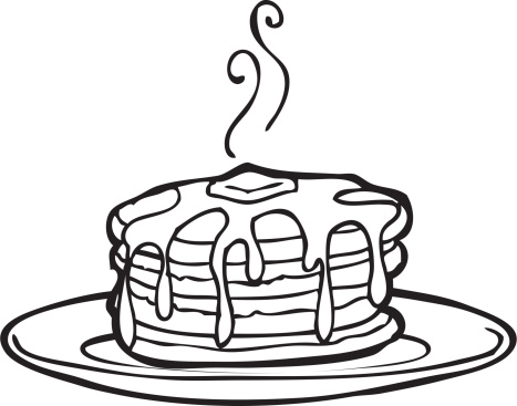 Pancakes clipart black and white 4 » Clipart Station.