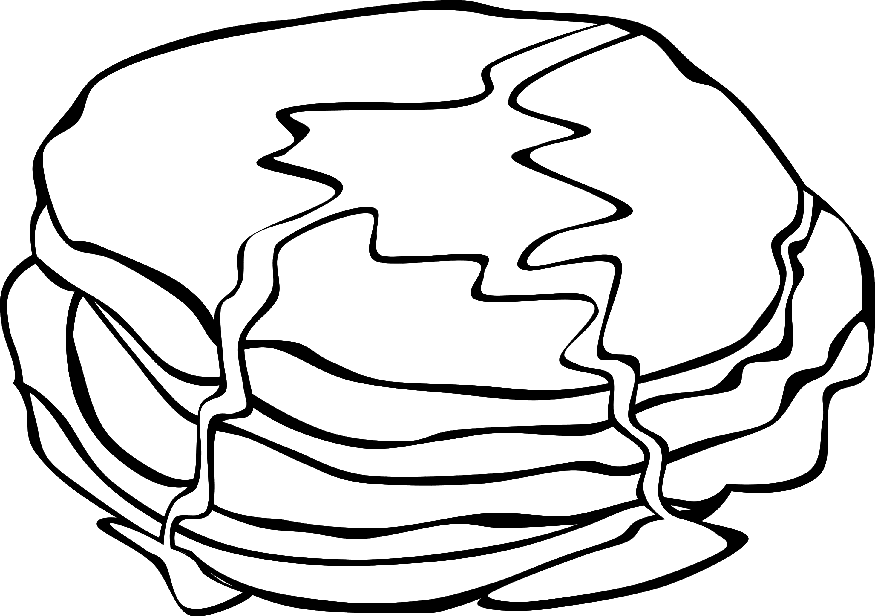 Free Pancake Clipart Black And White, Download Free Clip Art.