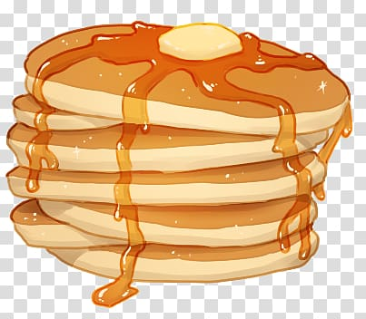 Pancake transparent background PNG clipart.