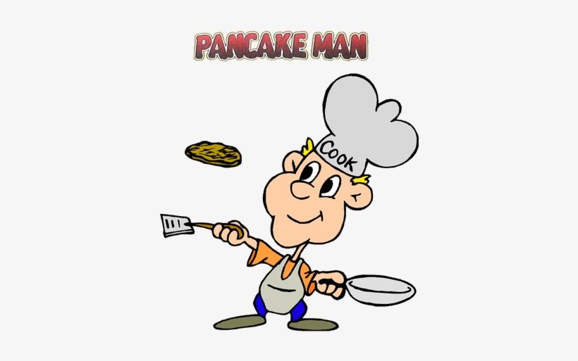 Pancake Clipart Pancake Man.
