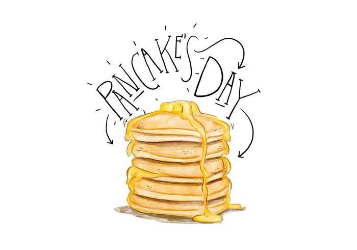 Pancake\'s Day Illustration.