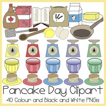 Pancake Day / Shrove Tuesday Clipart.