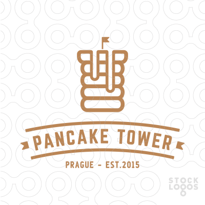 Exclusive Customizable Logo For Sale: Pancake Tower.