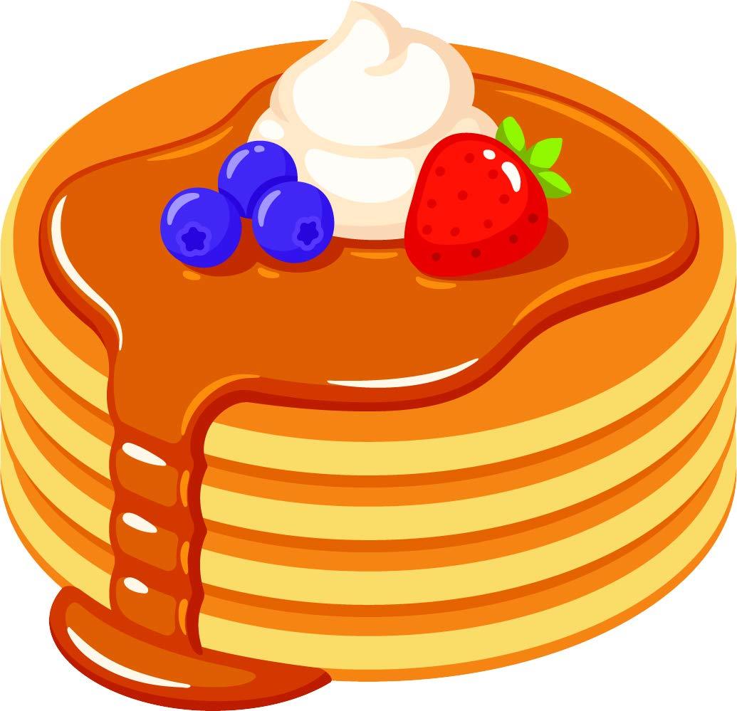 Amazon.com: Simple Yummy Breakfast Pancake Stack Cartoon.
