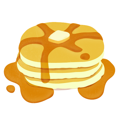 Pancake With Syrup Clip Art.