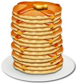 Pancakes clipart free.