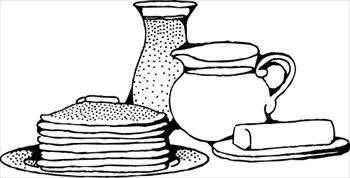 Pancakes Clip Art Black And White.