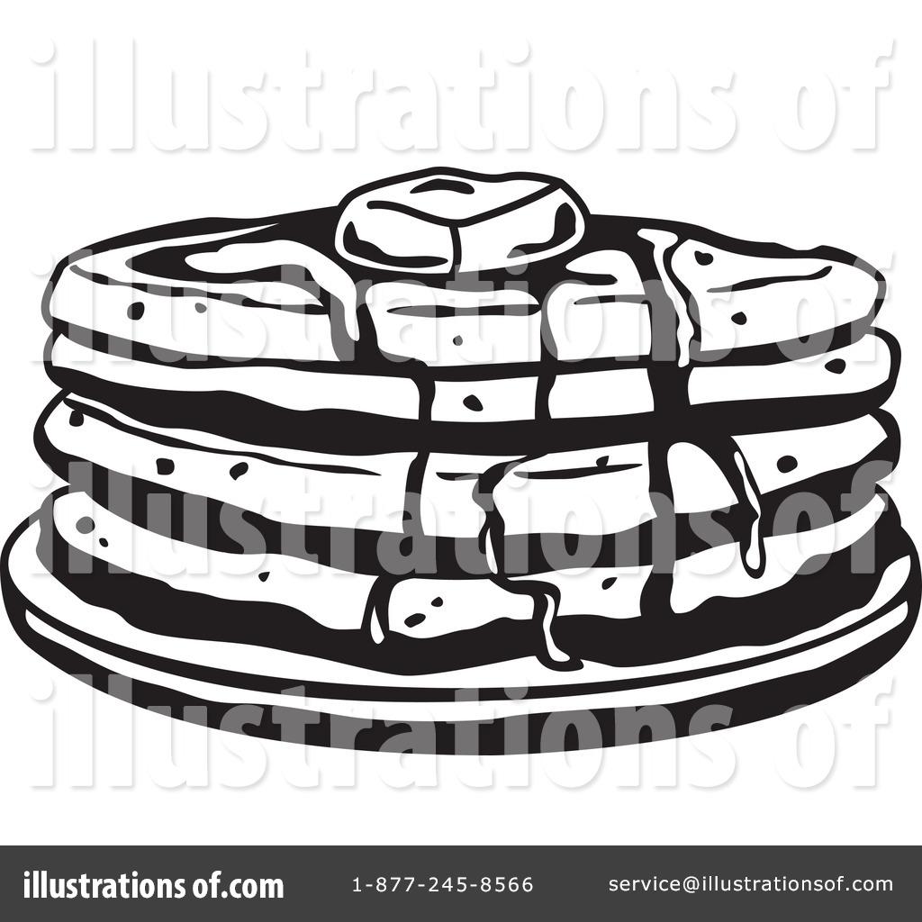 Pancake Clipart Black And White.