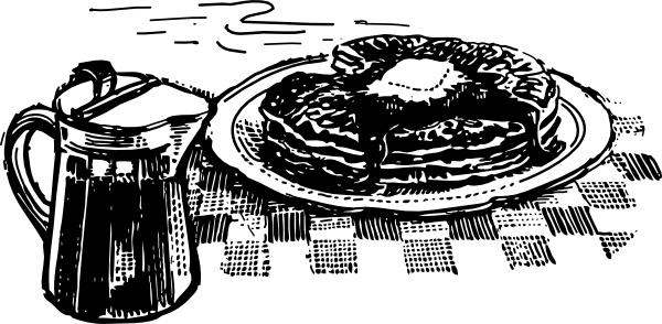 Pancakes And Syrup clip art Free vector in Open office drawing svg.