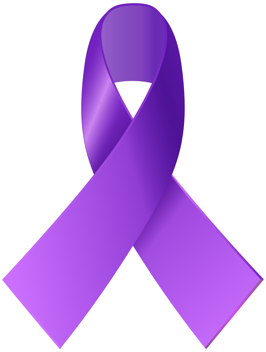 Cancer Ribbon clipart.