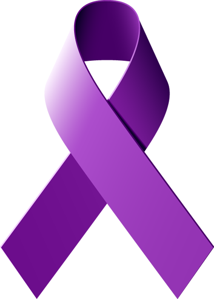 Learn What A Purple Awareness Ribbon Represents.