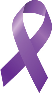 Pancreatic Cancer Purple Ribbon Clipart.
