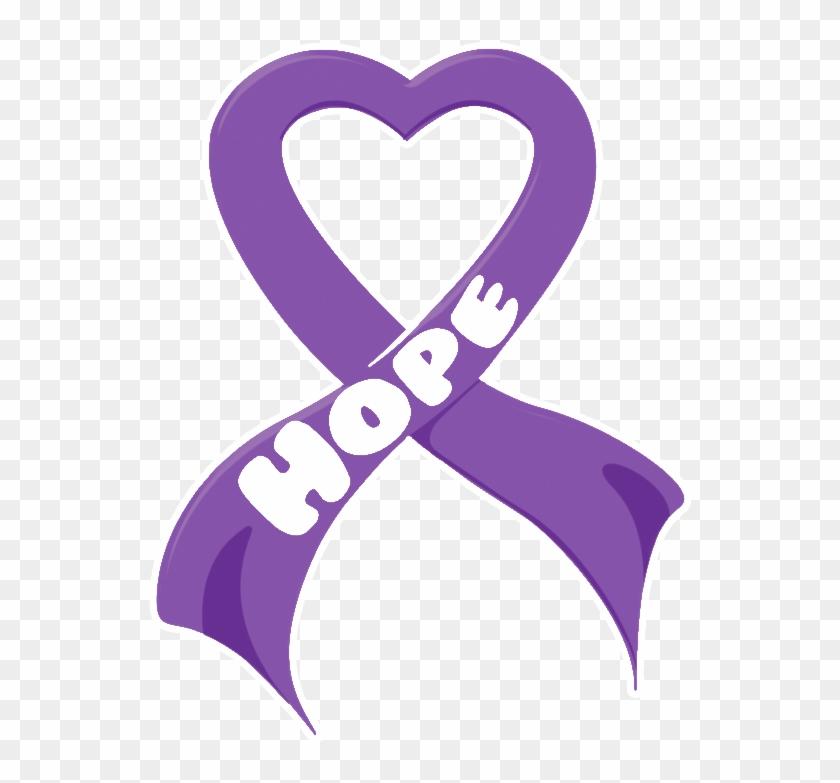 Hope Clipart Purple Ribbon.