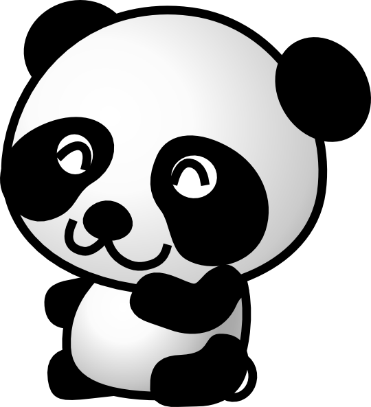 Cute panda cartoon clipart images gallery for free download.