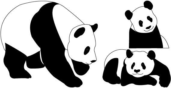 Cute Panda Bear Clipart.