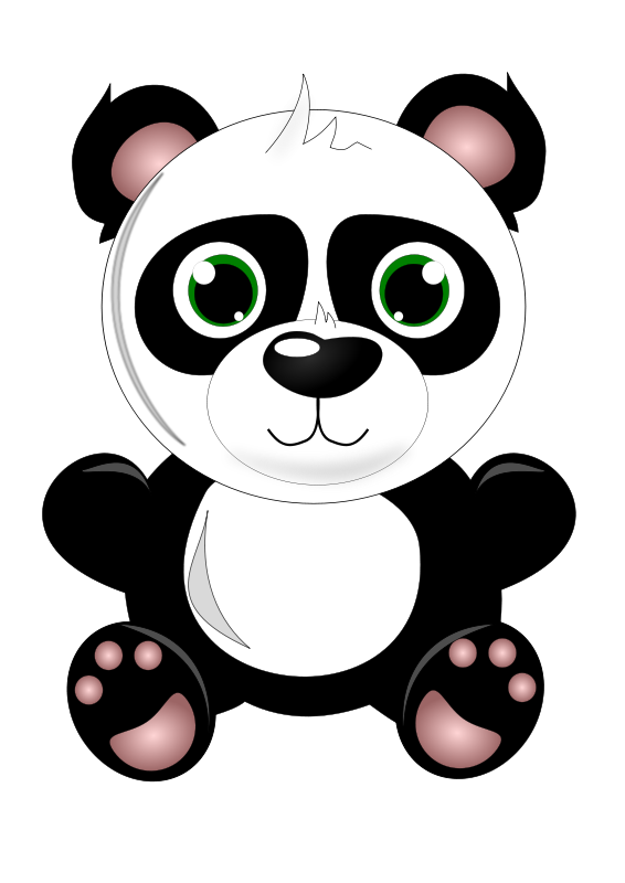 Cute Baby Panda Saying Hi Clipart 20 Free Cliparts