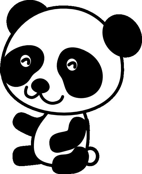 Clipart Panda Black And White.