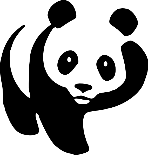 Panda clip art black and white clipart images gallery for.
