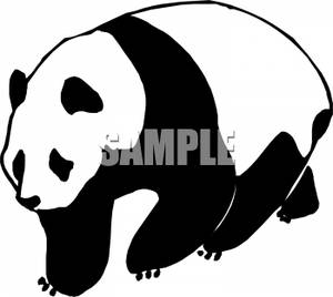 Panda Clipart Black And White.