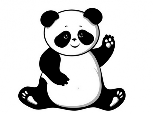 Panda clipart free images 4.