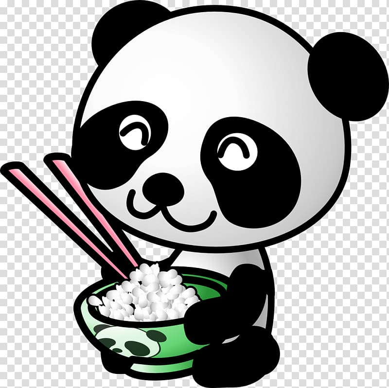 Giant panda Bear Cartoon , panda transparent background PNG.