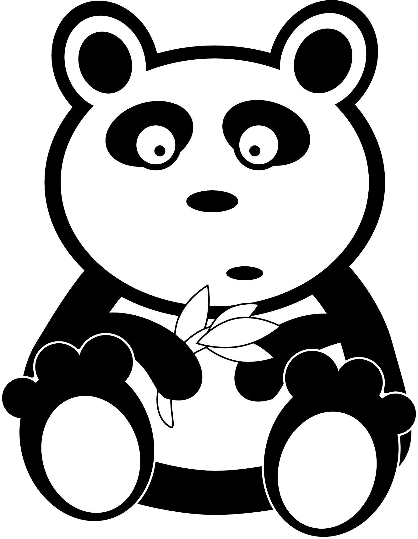 Bear Clipart Black And White.