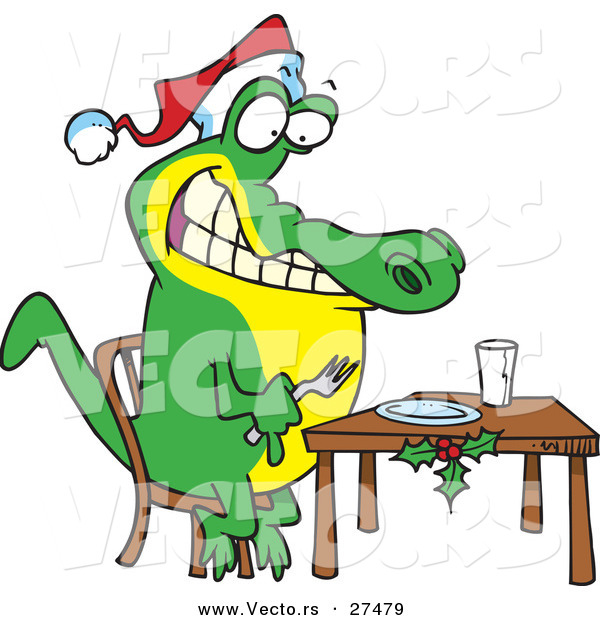 Showing post & media for Christmas alligator cartoon.