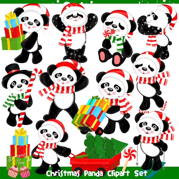 Panda Clipart Christmas Alligator 20 Free Cliparts