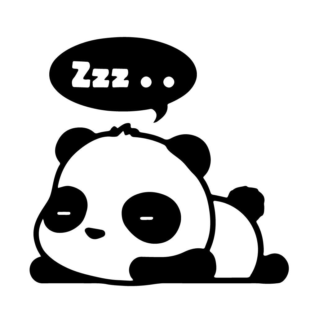 Cute Panda Clipart Black And White.