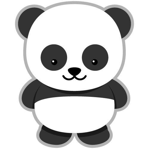 Cute panda head clipart free.
