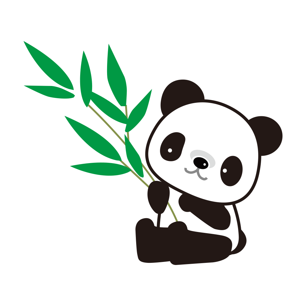 Panda clipart bamboo drawing, Panda bamboo drawing.