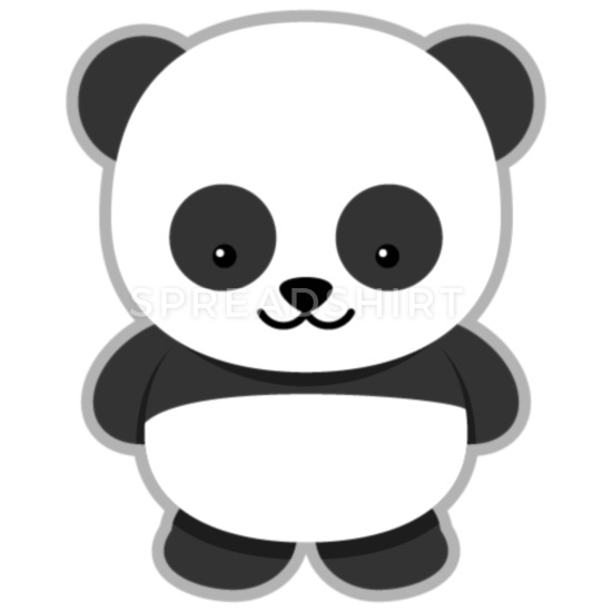 animated panda clipart 3 iPhone Case flexible.