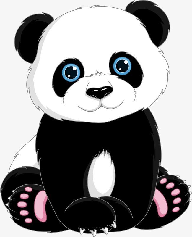 Cute Cartoon Panda, Cute Clipart, Cartoon Clipart, Panda.