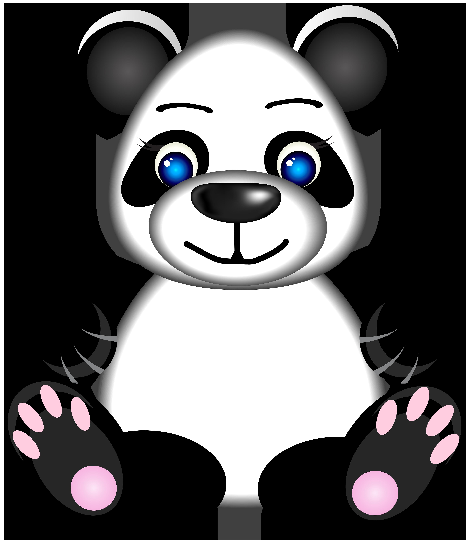 Panda PNG Clip Art Image.