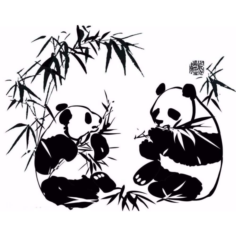 Amazon.com: liubeiniubi Art Home Decor Pandas Eating Bamboo.
