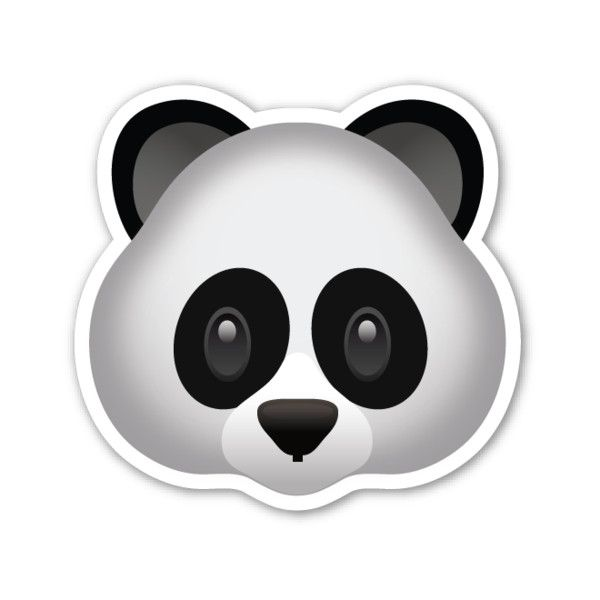 Panda Face ($1) ❤ liked on Polyvore featuring home en home.