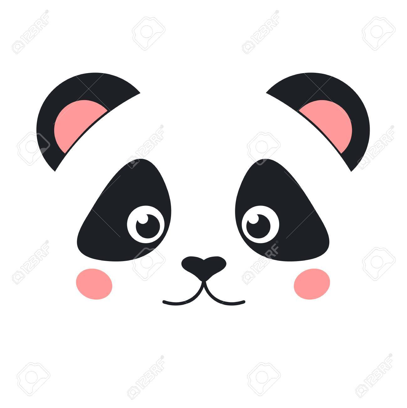 Cartoon panda face » Clipart Portal.