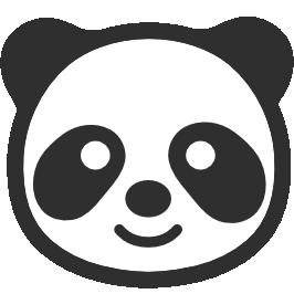 Panda face clipart 6 » Clipart Station.