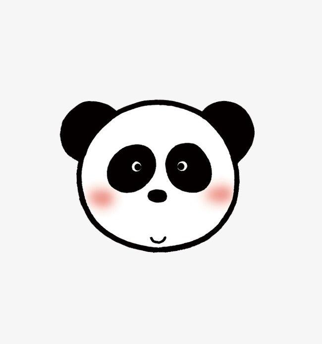 Cute Panda Face PNG, Clipart, Animal, Cartoon, Cute Clipart.