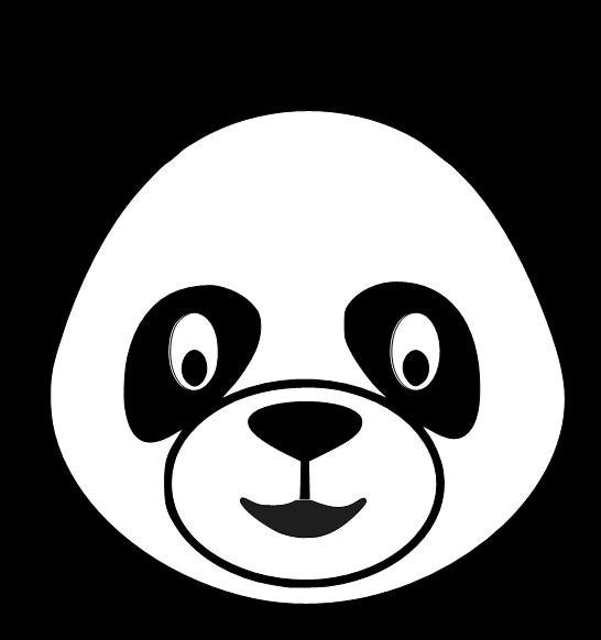 Panda Head Cliparts.
