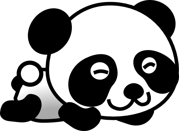 Panda head clipart free clipart images 3.